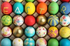 Colección de los huevos de Pascua Fotografía de archivo libre de regalías