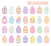 Colección de los huevos de Pascua stock de ilustración