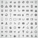 Colección de los iconos de la aplicación web Imagen de archivo