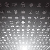 Colección de los iconos de la aplicación web Fotografía de archivo