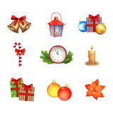 Colección de los iconos de la Navidad Imagen de archivo