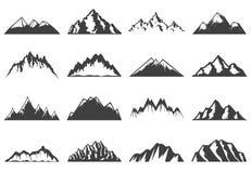 Colección de los iconos de las montañas del vintage libre illustration