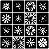 Colección de los iconos de Sun Imagen de archivo libre de regalías