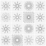 Colección de los iconos de Sun Imágenes de archivo libres de regalías