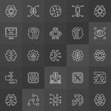 Colección de los iconos del AI - vector las muestras de la inteligencia artificial Fotos de archivo libres de regalías