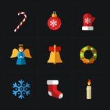 Colección de los iconos del color de la Navidad - ejemplo del vector libre illustration