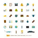 Colección de los iconos del negocio Fotografía de archivo libre de regalías