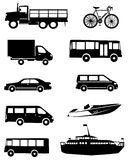 Colección de los iconos del transporte Foto de archivo libre de regalías