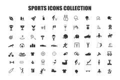Colección de los iconos de los deportes Foto de archivo