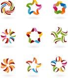 Colección de los iconos y de las insignias abstractos - 6 stock de ilustración