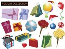 Colección de los items del día de fiesta Fotos de archivo libres de regalías
