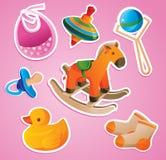 Colección de los juguetes del bebé Imágenes de archivo libres de regalías