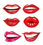 Colección de los labios Foto de archivo libre de regalías