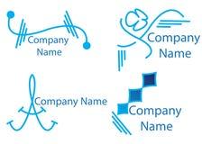 Colección de los logotipos Fotografía de archivo