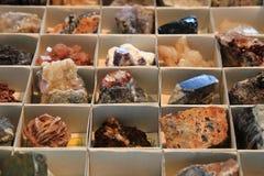 Colección de los minerales y de las gemas del color Imagen de archivo