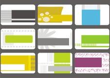 Colección de los modelos de la tarjeta de visita Imágenes de archivo libres de regalías