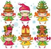 Colección de los niños de Navidad Imagen de archivo