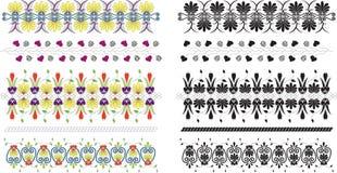 Colección de los ornamentos florales ilustración del vector