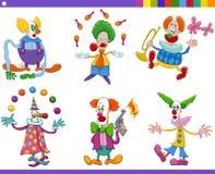 Colección de los payasos de circo Foto de archivo