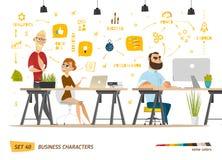 Colección de los personajes de dibujos animados del negocio Imagen de archivo libre de regalías