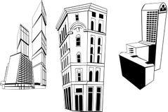 Colección de los rascacielos Fotos de archivo libres de regalías