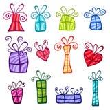 Colección de los rectángulos de regalo stock de ilustración