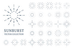 Colección de los resplandores solares del vector Fotos de archivo libres de regalías