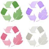Colección de los símbolos de Eco Imágenes de archivo libres de regalías