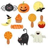 Colección de los símbolos de Halloween Fotos de archivo libres de regalías