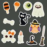 Colección de los símbolos de Halloween Imagen de archivo