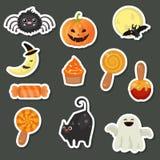 Colección de los símbolos de Halloween Imagenes de archivo