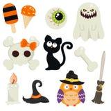 Colección de los símbolos de Halloween Imágenes de archivo libres de regalías