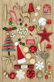 Colección de los símbolos de la Navidad Fotografía de archivo