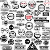 Colección de los sellos de goma Fotos de archivo libres de regalías