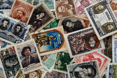 Colección de los sellos soviéticos Imagen de archivo
