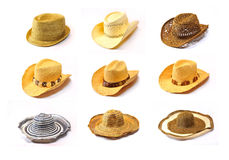 Colección de los sombreros Fotografía de archivo libre de regalías
