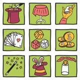 Colección de los trucos mágicos Imagen de archivo libre de regalías