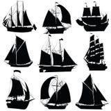 Colección de los veleros Imágenes de archivo libres de regalías