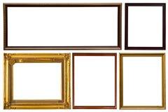 Colección de madera del marco de la foto Fotos de archivo