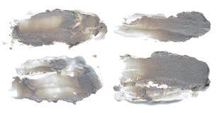 Colección de manchas blancas /negras de acrílico abstractas de los movimientos del cepillo Imagen de archivo