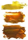 Colección de manchas blancas /negras de acrílico abstractas de los movimientos del cepillo Imagenes de archivo