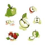 Colección de manzanas frescas Foto de archivo
