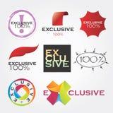 Logotipos exclusivos de la compañía stock de ilustración