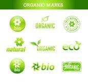 Colección de marcas orgánicas Imagenes de archivo