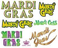 Colección de Mardi Gras Fat Tuesday Word Imagen de archivo libre de regalías