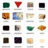 Colección de minerales Fotos de archivo libres de regalías