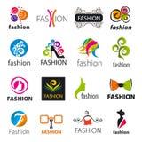 Colección de moda de los logotipos del vector Fotografía de archivo