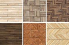 Colección de modelos de madera de alta resolución del entarimado Texturas inconsútiles de diversa madera imágenes de archivo libres de regalías