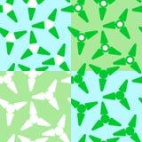 Colección de modelos verdes y azules Fondo moderno de la moda ilustración del vector