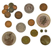 Monedas de la colección Foto de archivo libre de regalías